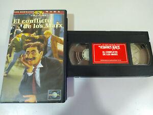 Los-Hermanos-Marx-el-Conflicto-de-los-Marx-Groucho-Harpo-Chico-VHS-Cinta-Tape