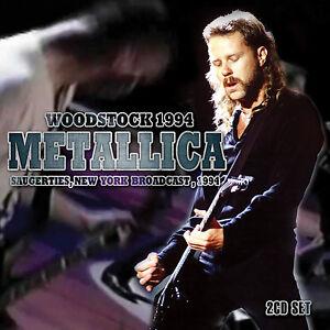 Details about METALLICA New Sealed 2019 WOODSTOCK 1994 LIVE CONCERT 2 CD SET