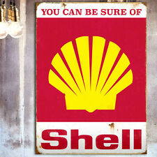 Vintage Shell Petrol Tin Plate Wall Sign Car/Garage/Shed/Man Cave/Pad Christmas