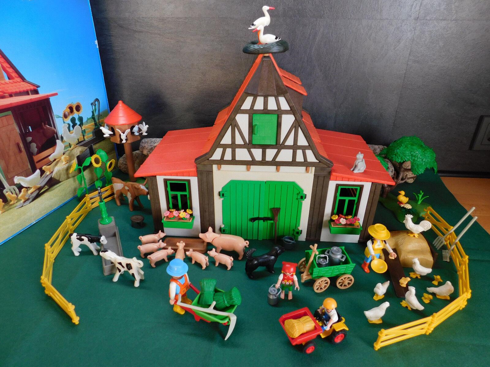 Playmobil Bauernhof 3716-A 1992 mit ausgedr. BA mehr Zubehör und OVP