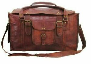 HLC-21-034-Mens-Retro-Style-Carry-on-Luggage-Flap-Duffel-Leather-Duffel-Bag