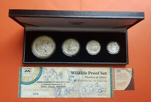 South-africa-silver-proof-set-5-10-20-50-cents-2005-wildlife-hunters-3-75-oz