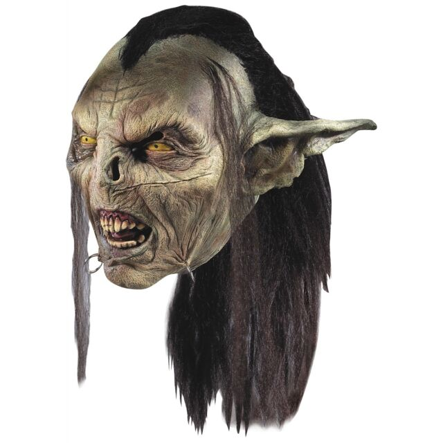 Moria Orc Mask Lord of the Rings Adult Mens Goblin LOTR Costume Fancy Dress