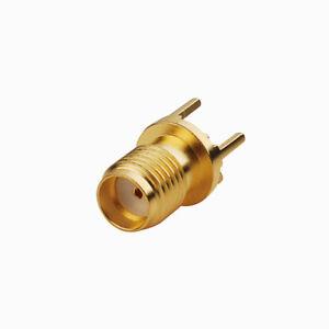 10pcs-SMA-Jack-female-thru-hole-Circle-PCB-Mount-straight-RF-Connector-1290