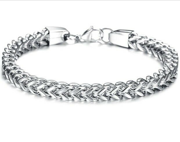 Choose Hip-hop Women Men Jewelry Figaro Box Curb Chain Bracelet Stainless Steel