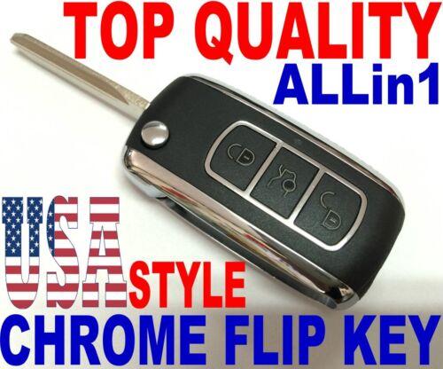 CHROME FLIP KEY REMOTE FOR 2001-2005 CHEVY BLAZER ASTRO CLICKER FOB KOBLEAR1XT