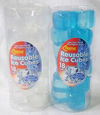 NEW 36 REUSABLE SQUARE ICE CUBES QUICK FREEZING WHITE & BLUE 2pks PMS