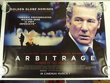 Arbitrage Richard Gere Susan Sarandon Original Film / Movie Poster Quad 76x102cm