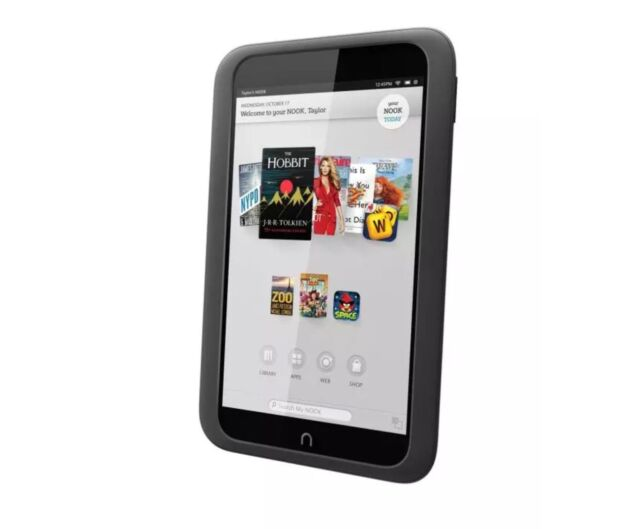 """🔥 WOW! 9.9/10 Prestine Barnes and Noble 7""""  NOOK HD Tablet 8GB Slate BNTV400"""
