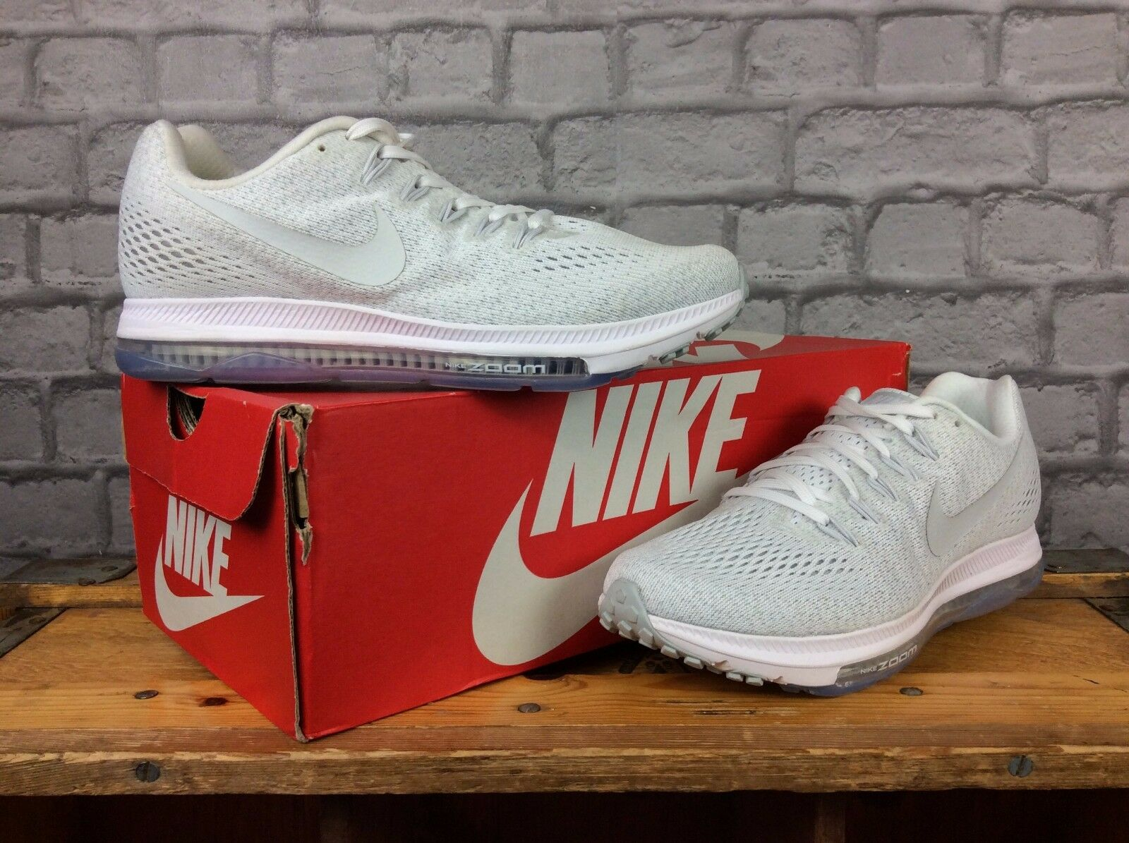 Nike Zoom EUR 38.5 Da Donna Performance Bianco Platino puro Scarpe Da Ginnastica
