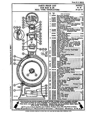 ECO Tireflator Islander 120 Series Factory Parts List gas station tire air meter