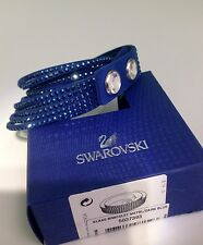 Swarovski Slake Dark Blue Bracelet Size Adjustable crystal Authentic 5037393