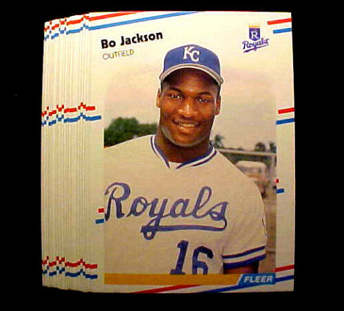 1988 Fleer Bo Jackson 50 Card Lot The Most Famous Two