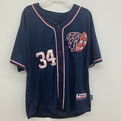 super popular d758f 841f2 Bryce Harper Washington Nationals Jersey Blue Majestic Authentic Collection    eBay