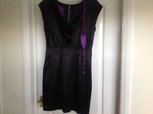Ladies-oasis-black-97-silk-dress-size-12