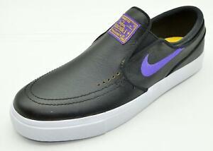 26722b128a33d Nike SB Zoom Janoski Slip NBA Black Purple BQ6396-024 Men s Skate ...