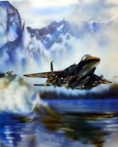 F-15-Fighter-Jet-Military-Aircraft-Flying-Over-The-Water-Aviation-Art-Print-8x10
