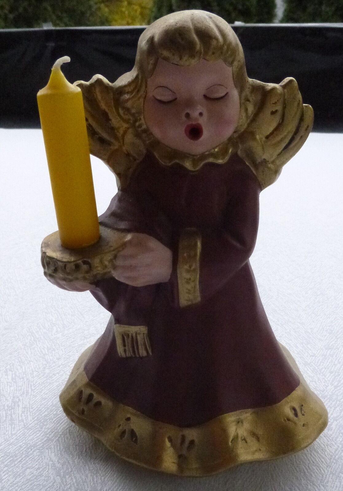 Bozener Engel Figur Figur Figur Weihnachtsdeko 21 cm mit Kerze Thun Engel 591d15