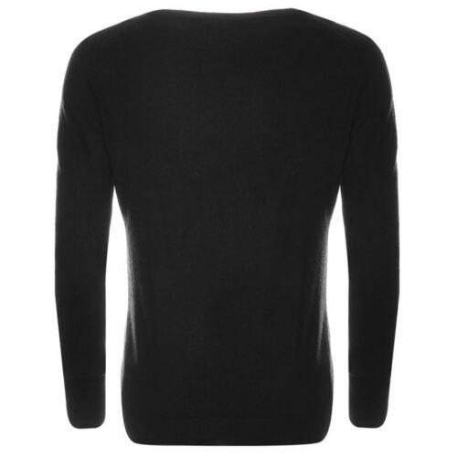 V Neck Lee Cooper Jumper Black Women sweater Ladies Size L
