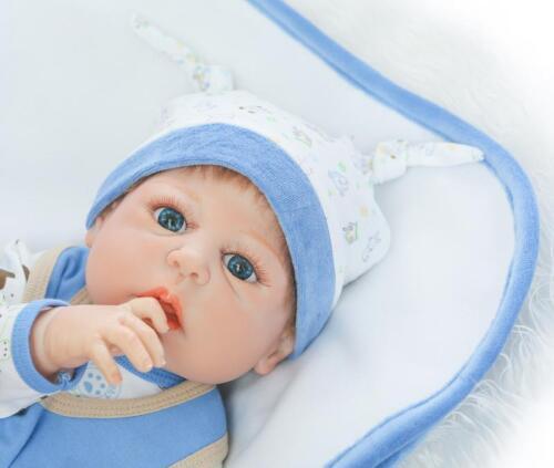 """Reborn 23/"""" Baby Doll Full Body Silicone Vinyl Realistic Newborn Gift for Boy"""