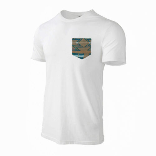 Men/'s Casual Crew Neck Short Sleeve Kintted Pocket T-Shirt Tee White 216040