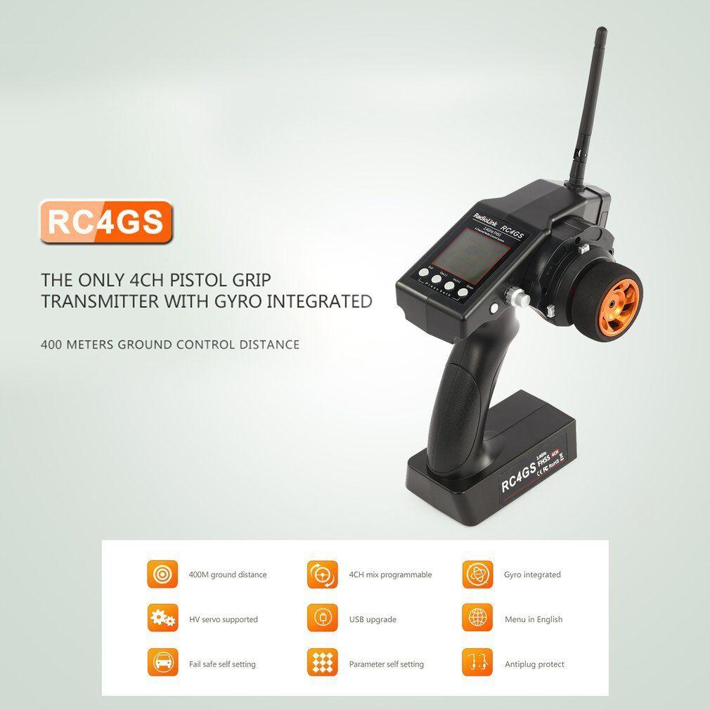 RadioLink RC4GS 2.4G 4CH Controller Transmitter R6FG Receiver Gyro Gyro Gyro for RC SK f3f705