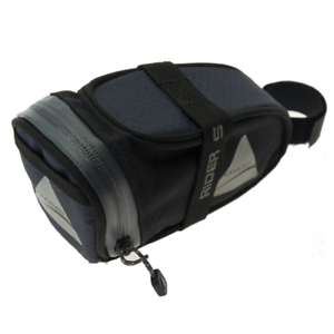 Axiom Bicycle Rider Saddle Seat Bag Small Grey Black Road Tour Commuter Bike