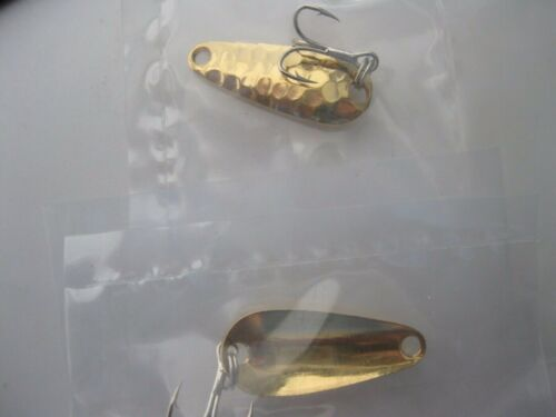 2 BRASS hammered casting spoons  U.S.MADE 1//8 oz each