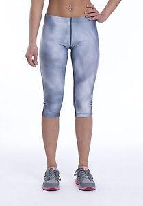 Mujeres-Gris-Fitness-Correr-Gimnasio-Ejercicio-de-YOGA-Deporte-Leggings-Print-Crop-activo