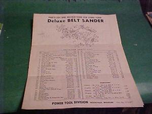POWER-TOOL-DIVISION-OWNER-039-S-MANUAL-DELUXE-BELT-SANDER