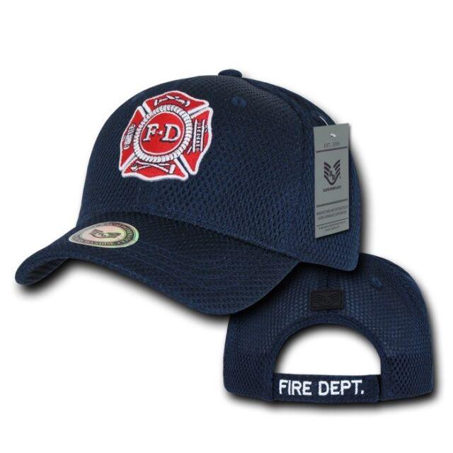 e662d9884e5 Blue Fire Dept Department Fireman Rescue Badge Mesh Baseball Cap Hat Caps  Hats