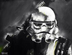 storm-trooper-star-wars-andy-baker-street-art-print-poster-32-034-painting-COA