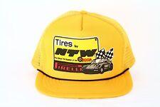 Pirelli NTW  Tires Vintage MESH Snapback Porsche Racing Auto Hat Baseball Cap