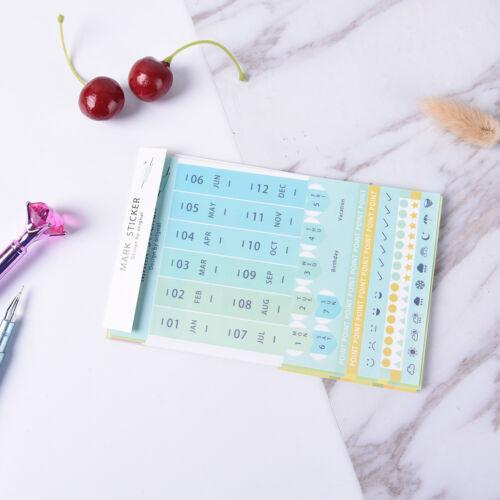 Etiqueta engomada del diario de 8Pcs plan de Papel Pegatina Decorativa Hágalo usted mismo mes Pegatina Papelería SG