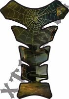 Spider Web - Deluxe Gas Tank Guard Protector 3d Pad - Motorcycle Tankguard