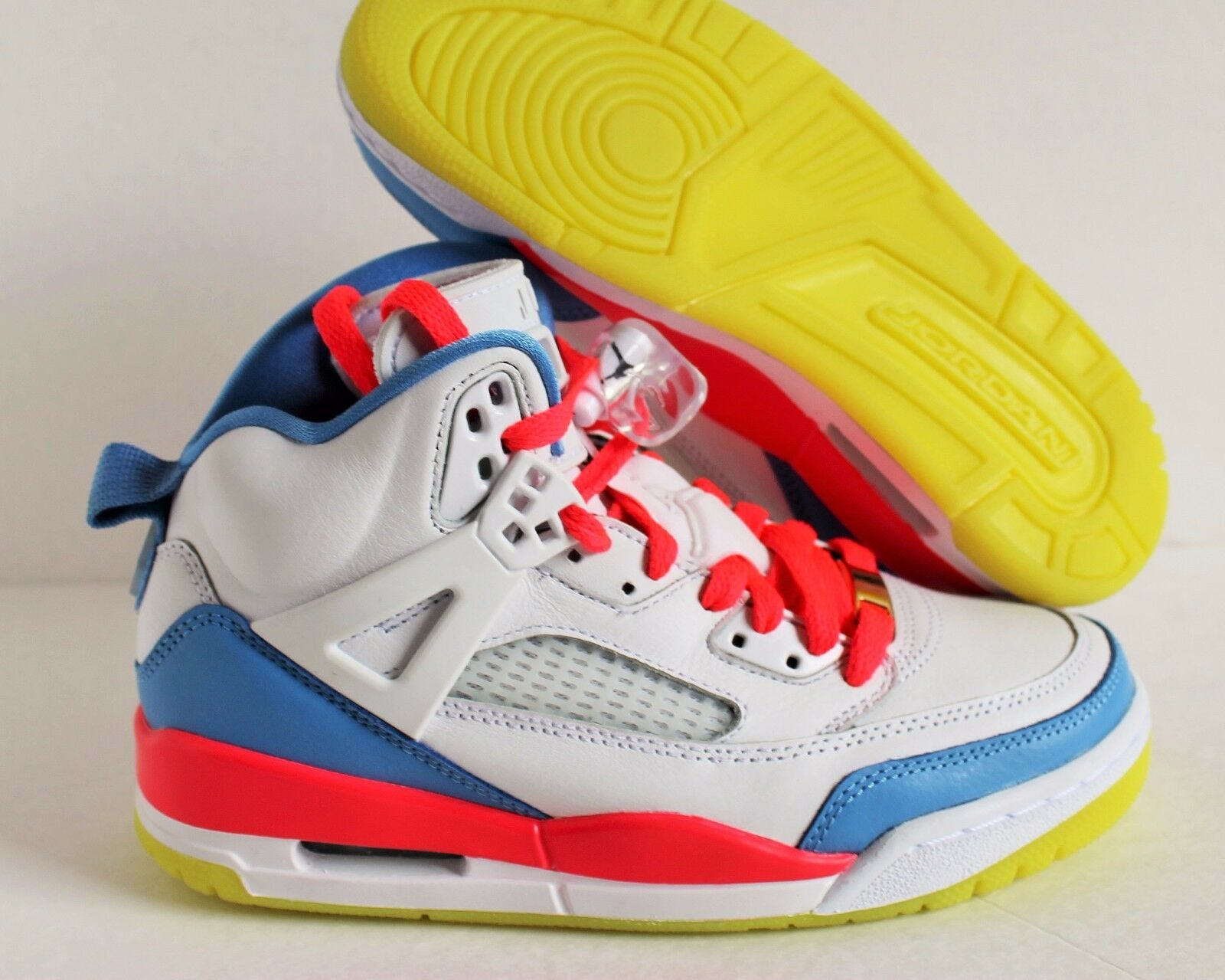 NIKE WMNS AIR JORDAN SPIZIKE iD WHITE-SOLAR RED -BLUE Price reduction Special limited time