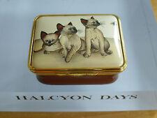 "Halcyon Days Cats & Butterfly Brenda Haigh Enamel Box -  1 7/8""( 5cms)"