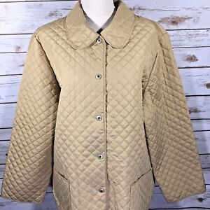 e321356c3b Sag Harbor Womens Quilted Jacket Blazer Plus Size 1X Tan Beige Brass ...