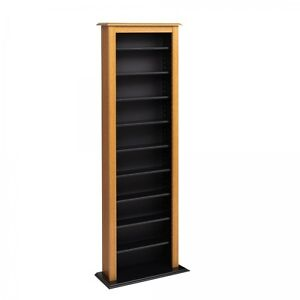 Narrow dvd storage tower multimedia rack cd shelves for Narrow storage tower
