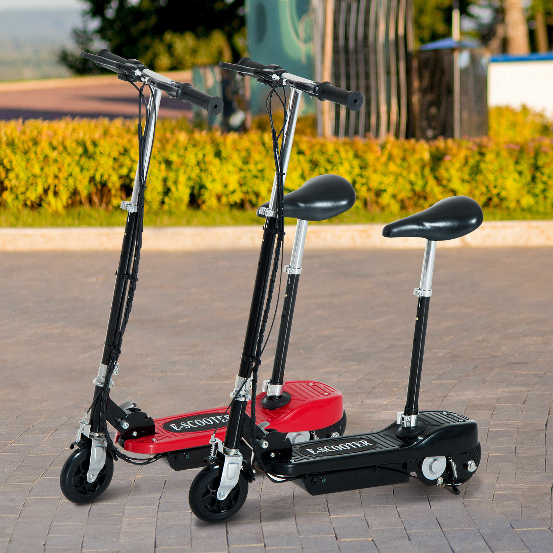 Elektroroller Kinderroller Roller mit Sitz Tretroller klappbar 120W 2 Farbe