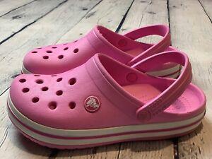 Crocs clogs kids Girls crocs band Pink