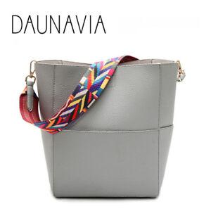 Bucket Women Bag Wide Strap Shoulder Bag Handbag Large Capacity ... d0c5d6715