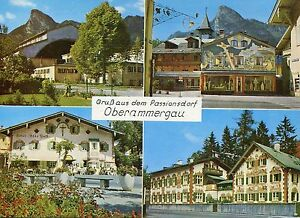 Alte Postkarte - Gruß aus dem Passionsdorf Oberammergau - Kornwestheim, Deutschland - Alte Postkarte - Gruß aus dem Passionsdorf Oberammergau - Kornwestheim, Deutschland