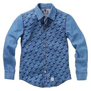 twinlife-RAGAZZI-Casual-camicia-maniche-lunghe-Real-Indigo-blu-128-176