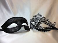 Men And Women Masquerade Mask Pair For Couple Dress Up Christmas Year Party