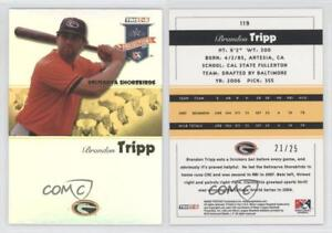 Details about 2008 TRISTAR PROjections Yellow Reflectives/25 #119 Brandon  Tripp Baseball Card
