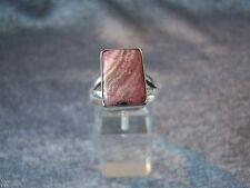 Sterling Silver 925 & Rhodochrosite Ring -  Size S