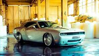American Muscle Cars Dodge Challenger Canvas Matte Print 23 X 33