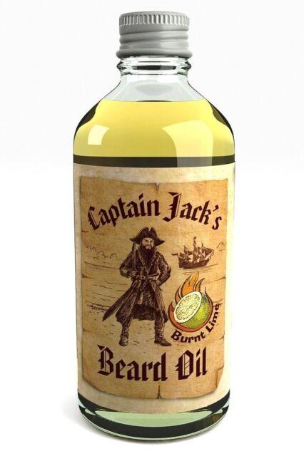 Captain Jack's Beard Oil Conditioner Nourishing Treatment Lime For Men 100ml UK