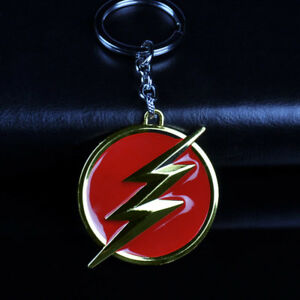 DC-Comics-Superhero-The-Flash-Logo-Alloy-Key-Chains-Keychain-Keyfob-Keyring-Gift